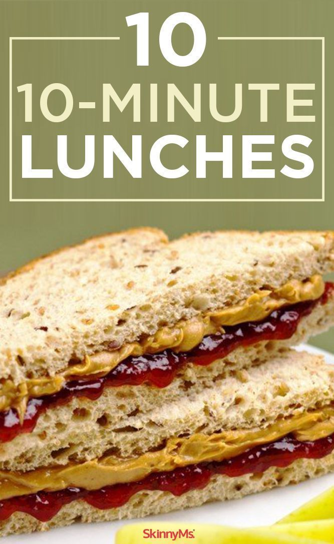 These 10 10-Minute Lunches are perfect for weekday lunches! #easylunches #lowcalorie #lunch