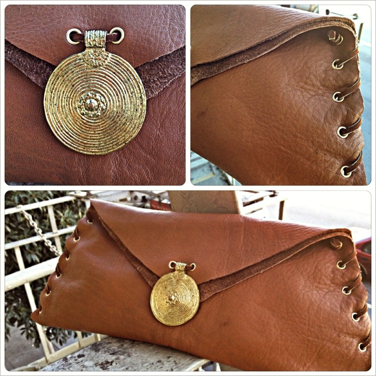 DIY Clutch Slightly larger than scrap leather...