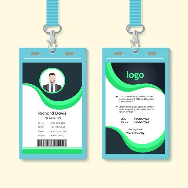 Simple Corporate Office Identity Card Design Template Waves Style Identity Card Design Card Design Simple Business Cards