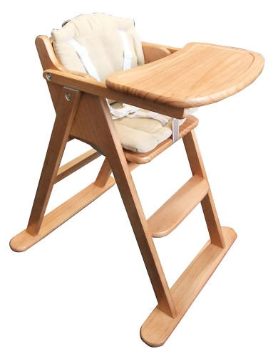 wooden high chair - think mothercare do these