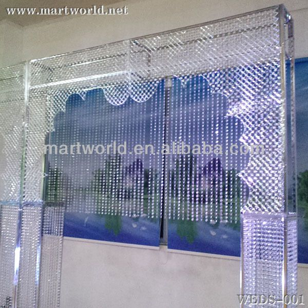 indian wedding stages decorations crystal background wedding decorations (WEDS-001)