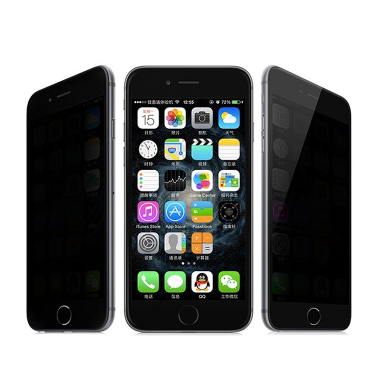 9H 0.3mm Anti Spy Quality Tempered Glass Screen Protector for iphone 4 4s 5s 5c 6 6 Plus Anti-shatter Privacy Protection Film