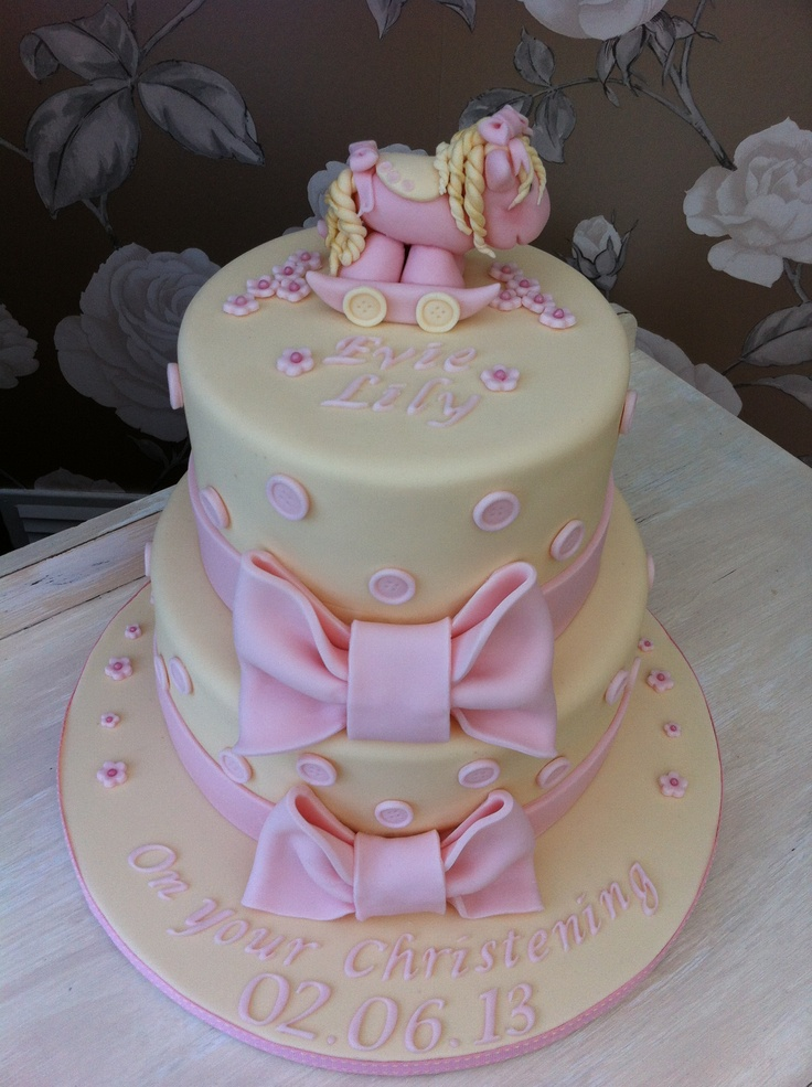Little girls christening cake