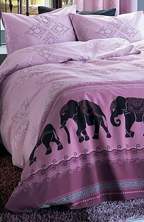Purple Elephant duvet cover.                                                                                                                                                                                 More