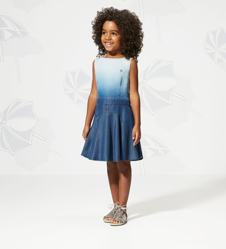 03621c34fbc Gucci Kids  SS 2014 Collection  Ombré Dress with Silver .