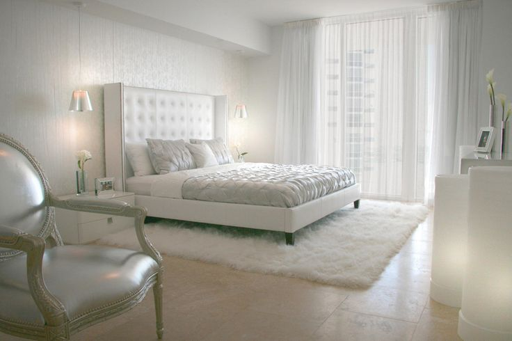20 All White Bedroom Design Ideas