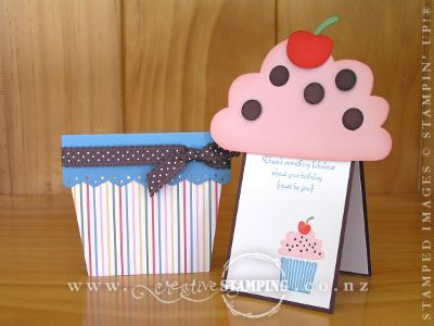 Cupcake Cards - make like a flower pot card!