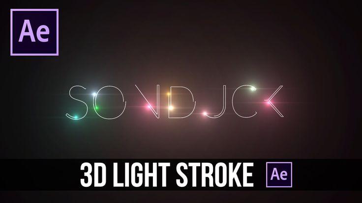 After Effects Tutorial: 3D Light Text Stroke Effect - http://tutorials411.com/2016/08/23/effects-tutorial-3d-light-text-stroke-effect/