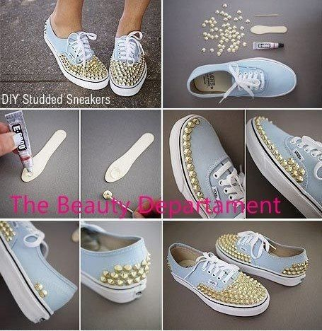 Diy Studded Running Shoes