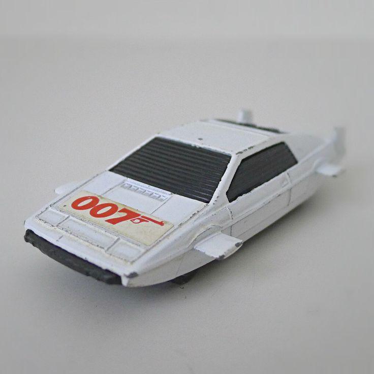 Vintage James Bond 007 Toy Car, 1970s Corgi Junior, Lotus Espirit.