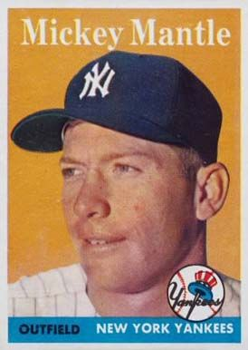 mickey mantle baseball cards | 1958 Topps Mickey Mantle #150 Baseball Card Value Price Guide
