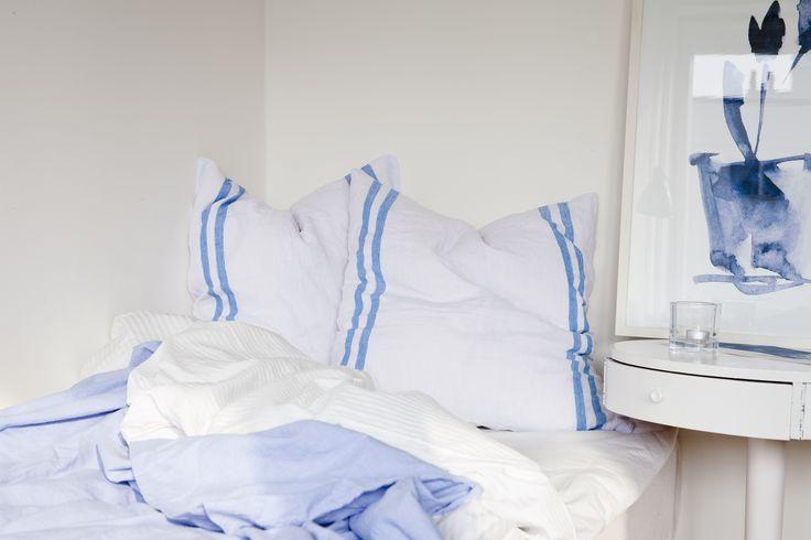 Cushion cover - denim blue.  100% organic, soysol.com