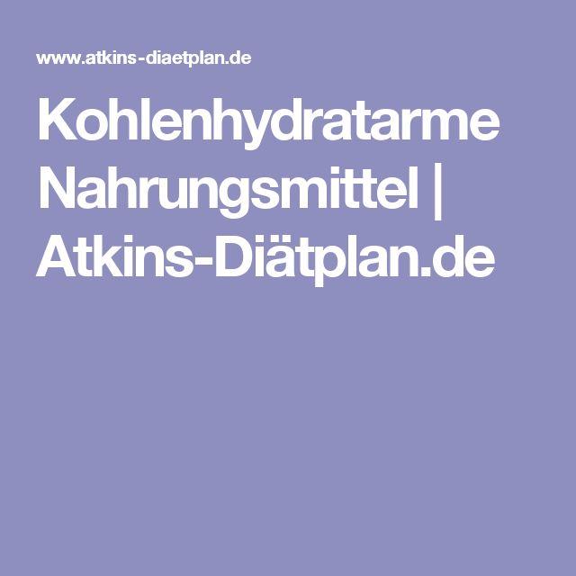 Kohlenhydratarme Nahrungsmittel | Atkins-Diätplan.de
