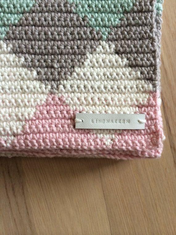Crochet harlequin baby blanket SALE by Linenakken on Etsy