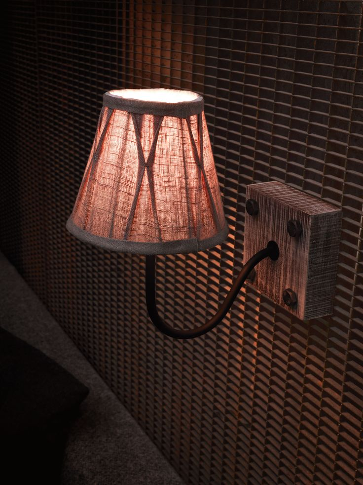 Eglo Lighting Vintage Collection / Natural Wood & Black 1 Lamp Wall Light