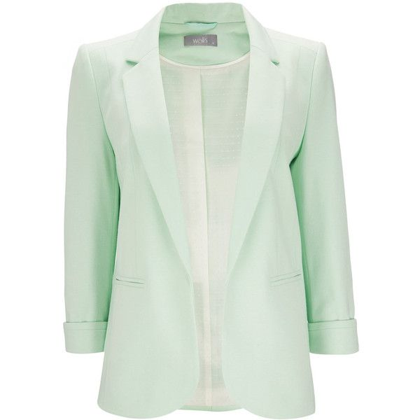 Mint Green Jacket ($70) ❤ liked on Polyvore