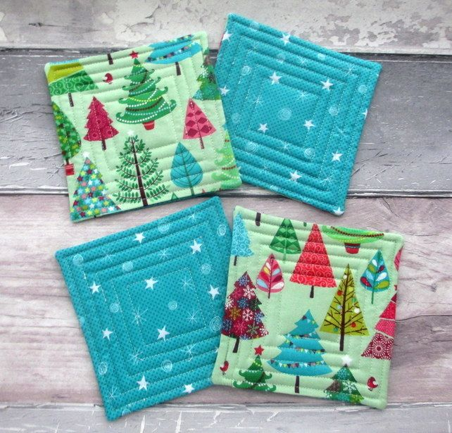 Christmas Quilted Coasters - Christmas Table Decorations £10.00