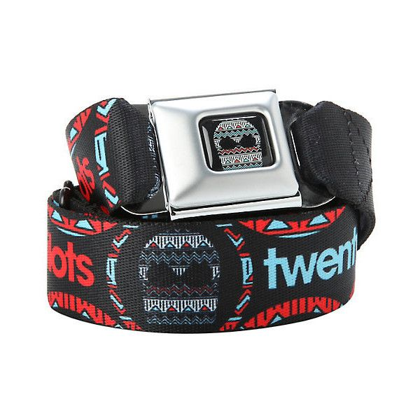 Twenty One Pilots Skull Seat Belt Belt Hot Topic ($20) ❤ liked on Polyvore featuring accessories and belts