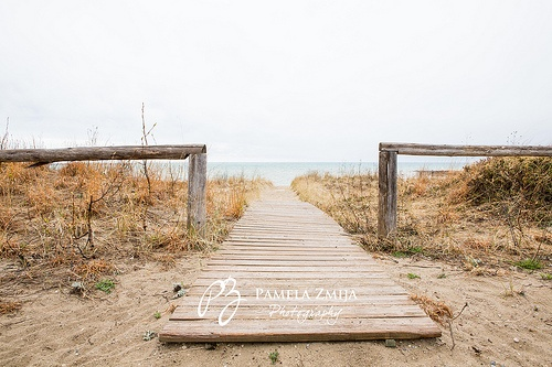 Boardwalk at the beach. Port Elgin, Ontario.- This is my soon to be new home. It is beautiful up here.
