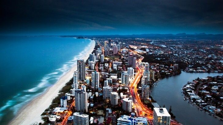 Gold Coast City in Queensland, Australia Wallpaper