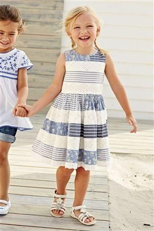 Broderie Patched Dress (3mths-6yrs)
