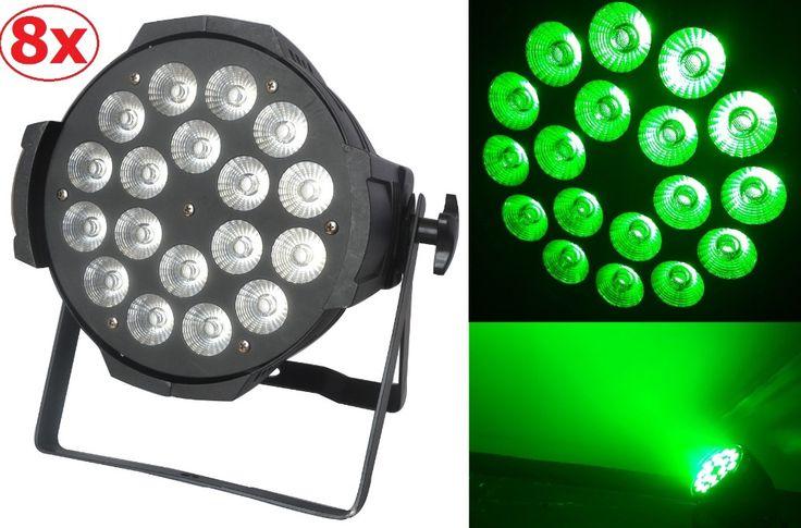 8xLot Free shipping 18X15W RGBWA 5in1 Led Par Can Professional Lighting Indoor Dmx Spotlights Stage Lights DJ Equipment Par Led #Affiliate
