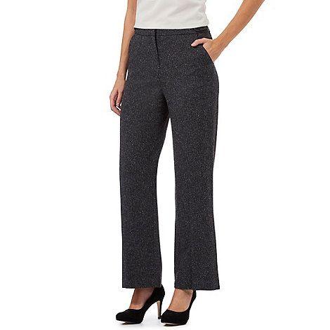 Principles Petite by Ben de Lisi Grey wide leg textured petite trousers | Debenhams