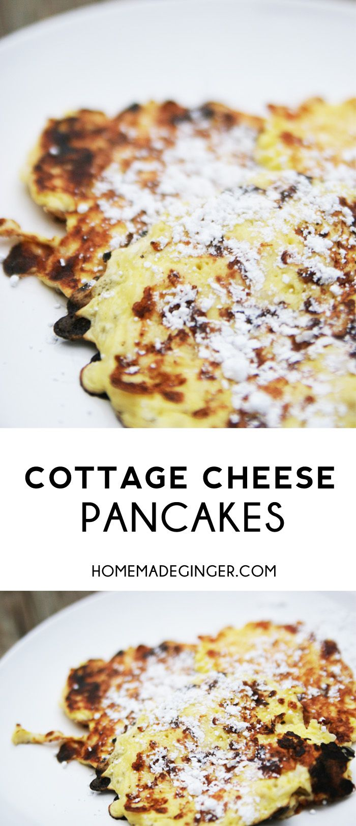 These cottage cheese pancakes are the absolute BEST pancake recipe you will ever make! You won't need another pancake recipe after trying these!