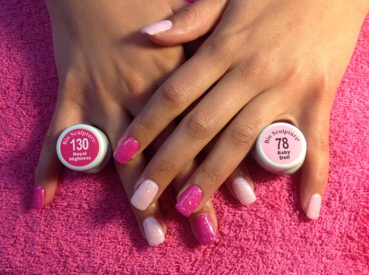 Bio sculpture gel nr 130 and 78 with glitter