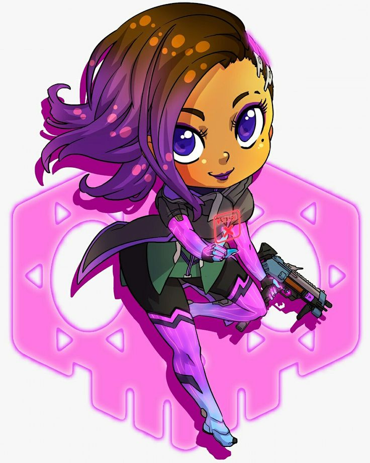 Anime Iphone X Wallpapers Deviantart Sombra Chibi From Overwatch In 2019 Overwatch Drawings