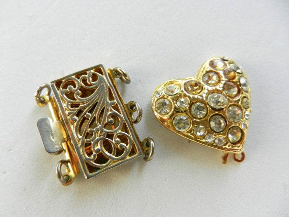 Clasps for Jewelry  1960 vintage quality  elegance by RAKcreations