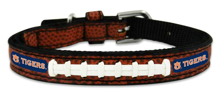 Auburn Tigers Classic Leather Toy Football Collar