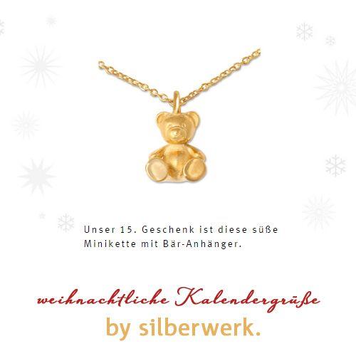 … heute ist ein bärenstarkes Geschenk in unserem Online-Kalender versteckt  :-)  : https://www.silberwerk.de/katalog/7000-adventskalender   ... oder einfach zum Verschenken: https://www.silberwerk.de/katalog/222-minianhanger