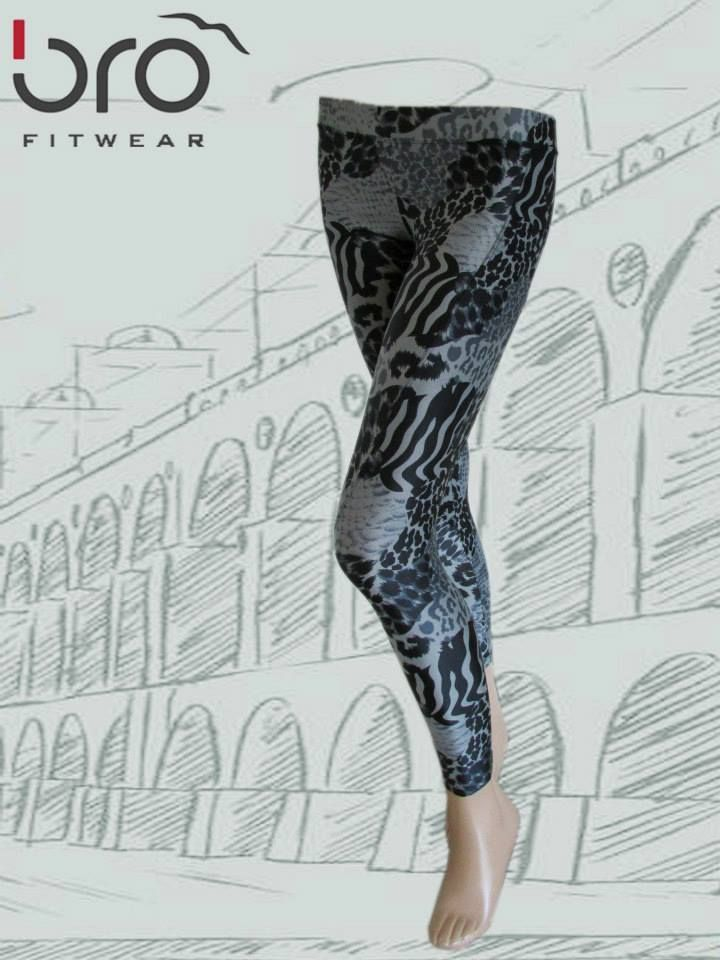 Bro Fitwear Leggings F1106 - Bootyfits by Yanina Sportswear - Sexy Workout Clothes - Gym, Fitness, Athletic Wear, Women Exercise Clothing