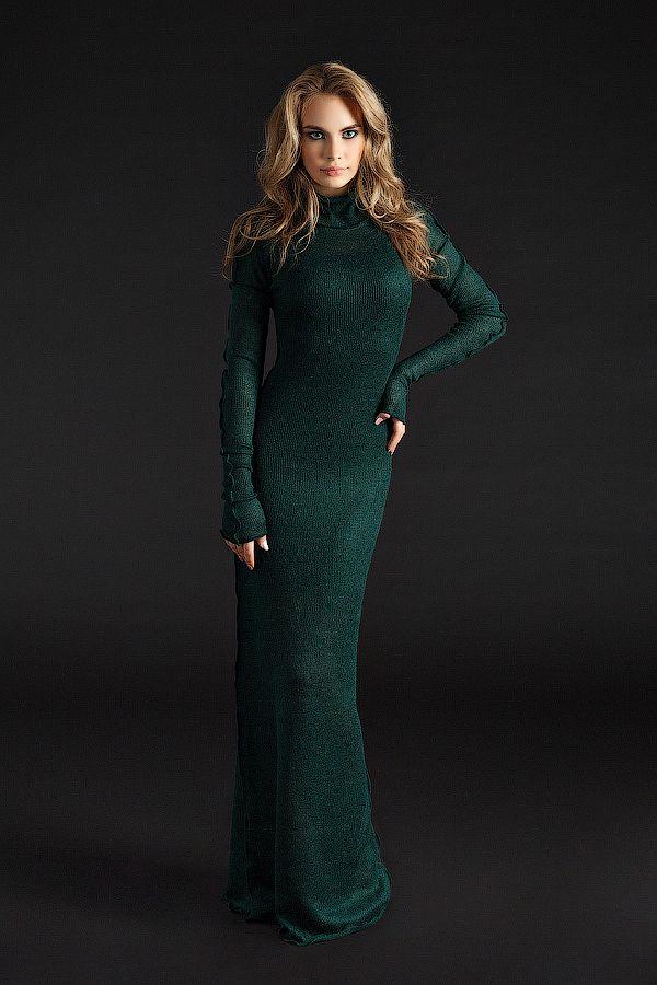 UONA.ru - Интернет-магазин одежды российского бренда UONA | Платье водолазка, длинное (разные цвета)