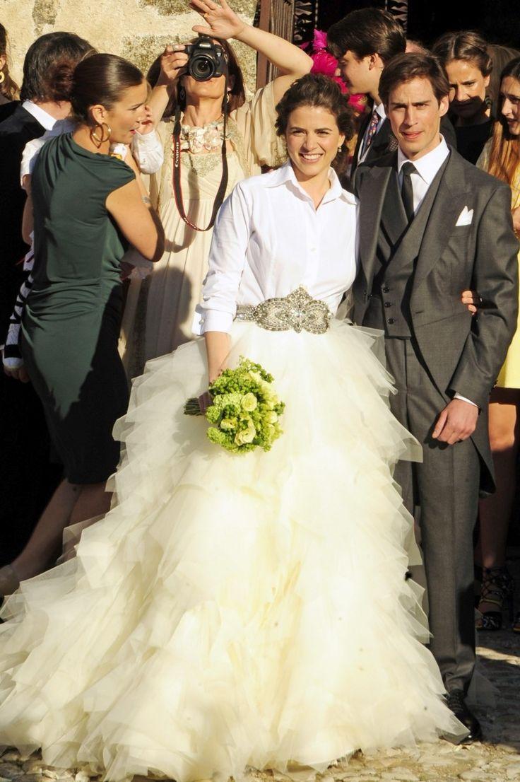 Bodas originales: Vestidos de novia con camisa y falda