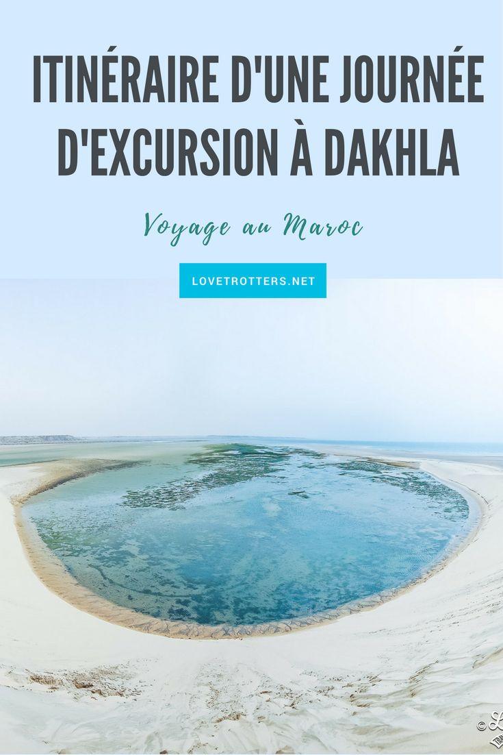 Programme d'une journée d'excursion à Dakhla avec toutes les destinations incontournables pour vous en mettre pleins la vue.