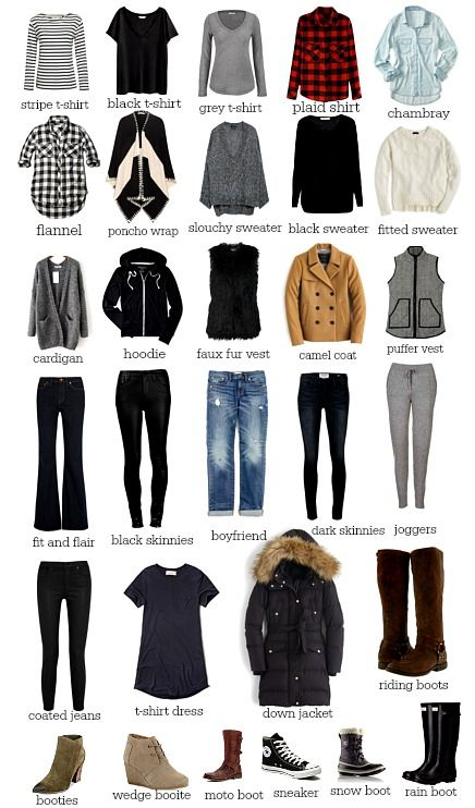 Do you have a basic winter wardrobe? We created a stylish and budget  friendly 30 piece winter wardrobe you will love. Each piece will mix,  match, and layer beautifully to create endless outfit possibilities.