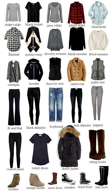 30 Pieces For Your Winter Wardrobe Capsule Wardrobe