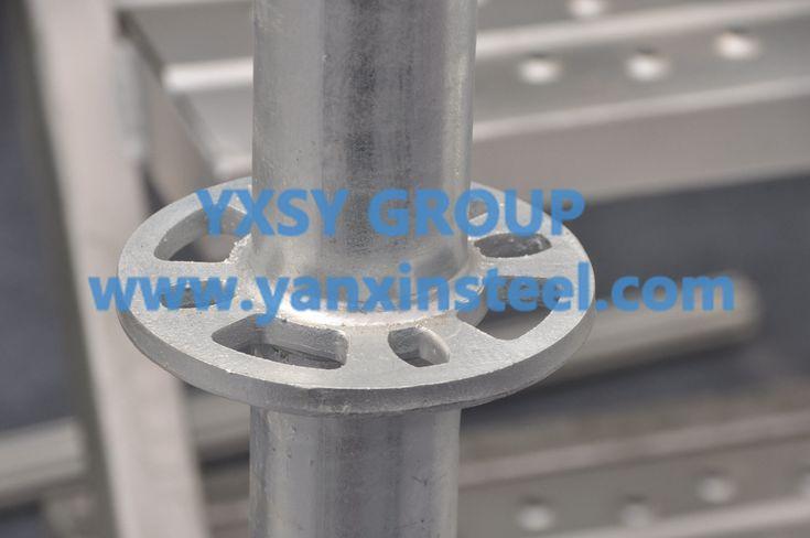 #AllroundScaffolding Material: Q345, Q235, Q195 Components: Standard, Ledger, Diagonal brace, Rosette, Base collar, Metal plank http://www.yanxinsteel.com/ringlock-scaffolding/772.html