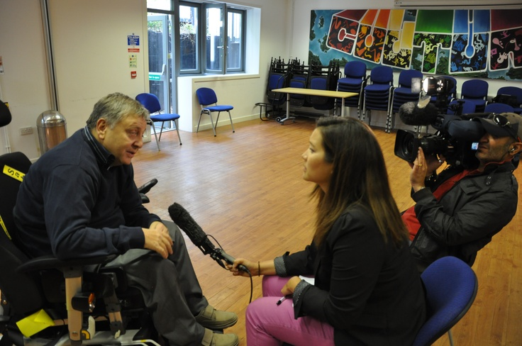 BBC interviewing a member of the WCCF...