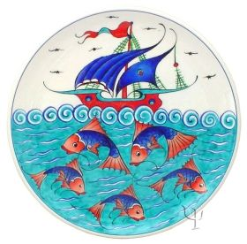 Iznik Design Ceramic Plate - Kalyon