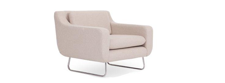 Copenhagen Armchair - Oatmeal Fabric