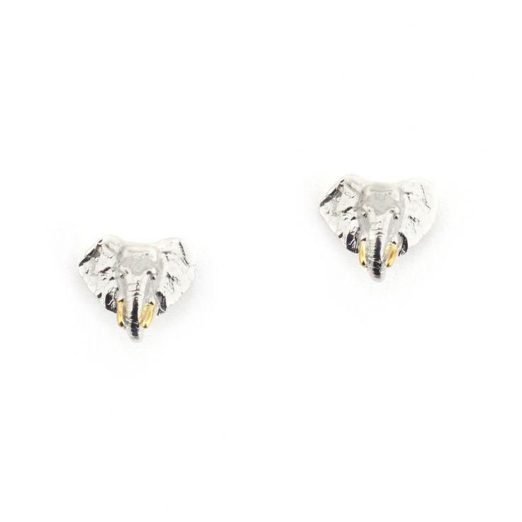 Elephant Stud Rhodium | Fashion Jewellery