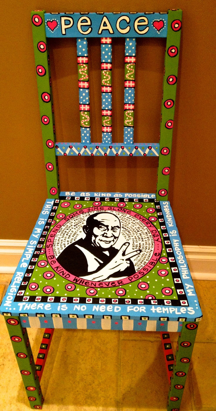 Dalai Lama Peace chair by Alice Hinther Design ahinther.webs.com  ahinther@hotmail.com