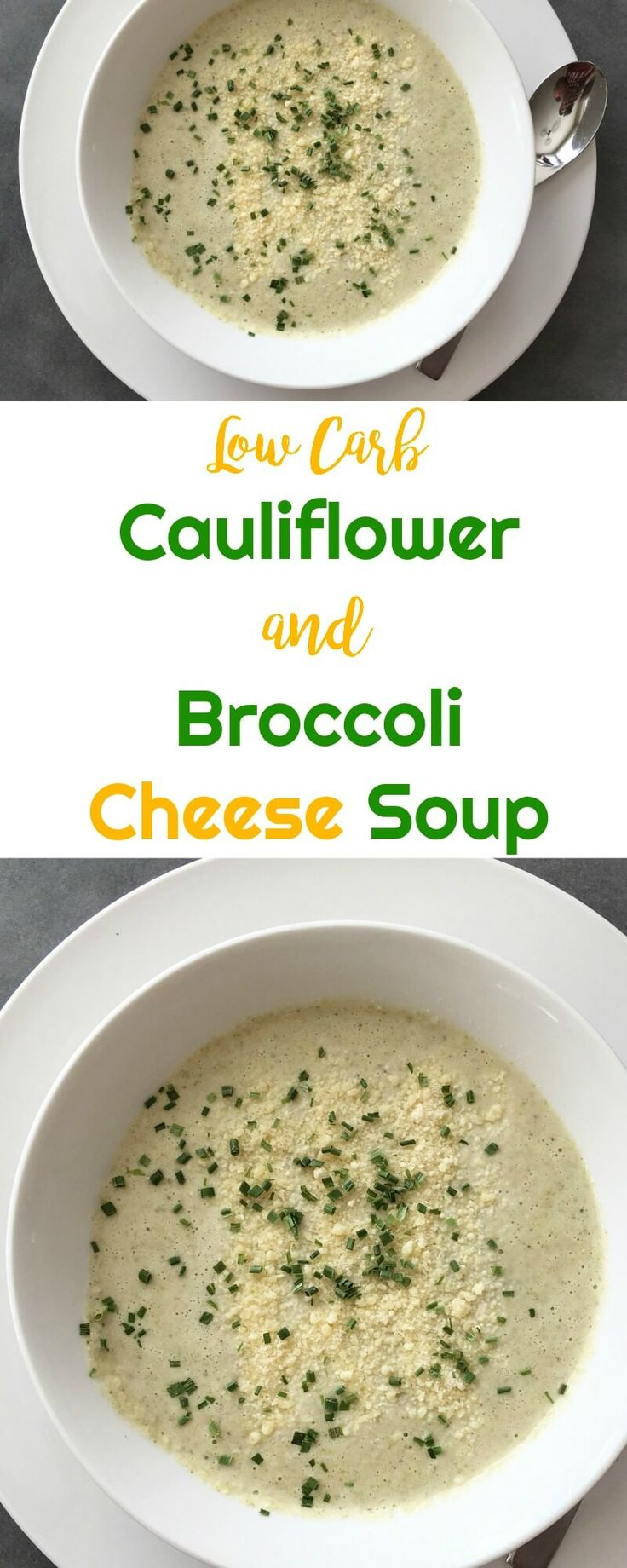 Low Carb Cauliflower and Broccoli Cheese Soup | Peace Love and Low Carb #lowcarbsoup #cauliflowerandbroccolicheesesoup #lowcarb #keto #lowcarbrecipe via @PeaceLoveLoCarb