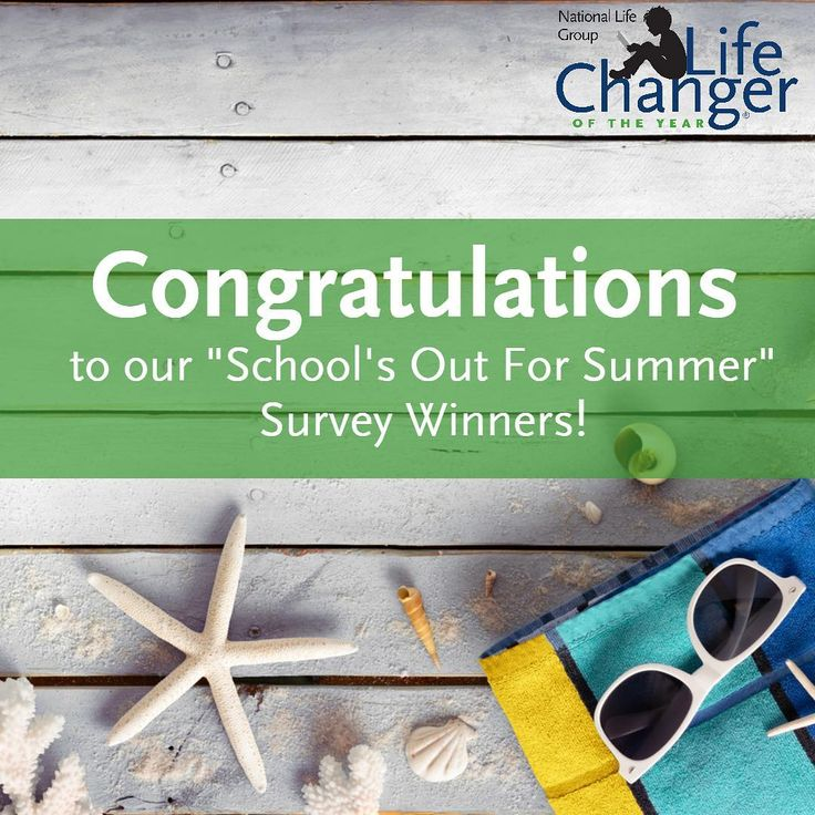 """We wanted to say congrats to the recipients of our """"School's Out For Summer"""" survey prizes! They have each received a $25 Amazon.com gift card:  Erin Bolda - Plainwell Middle School Samuelstine Howard - Madison Parish Alternative Center Dan Taguchi - Hale Charter Academy Audra Bluehouse - Hatch Valley High School Amy Musick - New Voices Middle School Molly Glassman - Padonia International Elementary School Devane Trigiani - Fort Dorchester High School Melody Surrett - Clover High School"""