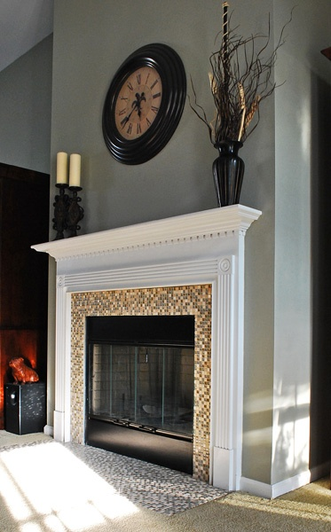 best ideas about Mosaic Tile Fireplace on Pinterest  Fireplace tile ...