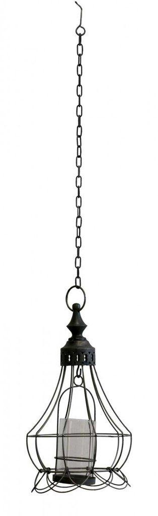 Rustic Industrial Hanging Lantern Fino