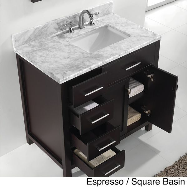 1000 ideas about small bathroom vanities on pinterest Virtu usa caroline 36 inch single sink bathroom vanity set